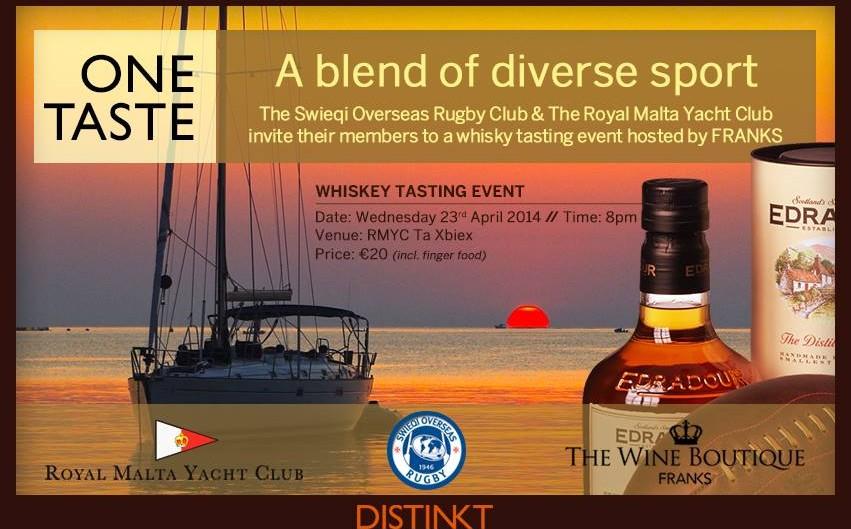 Royal Malta Yacht Club Swieqi Overseas Rugby Whiskey Tasting